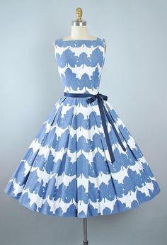 Vintage 50s JONATHAN LOGAN Dress / 1950s Cotton Sundress