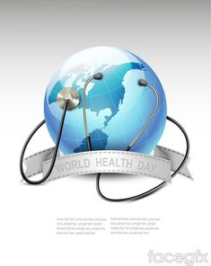 World Health Day poster Earth vector
