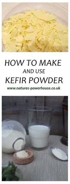 Dehydrate kefir and make it into a powder that can easily be added to many dishes