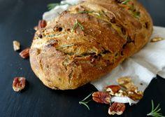 Pecan, Walnut and Rosemary Sourdough Sourdough Bread Starter, Sourdough Recipes, Rosemary Bread, Bread Ingredients, Pecan Nuts, Pecan Recipes, Toasted Pecans, Cheese Platters, Artisan Bread