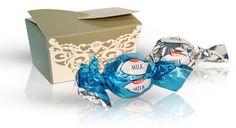 Výběr čokoládových pralinek - šedá 32 g Decorative Boxes, Container, Decorative Storage Boxes