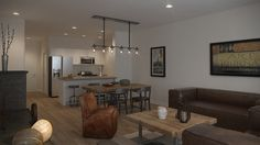 Modern, clean and rustic. Perfect decor to finish off our 'Cancun' model in Velocity New Condo, New Community, Cancun, Landing, It Is Finished, Dining Table, Rustic, How To Plan, Modern