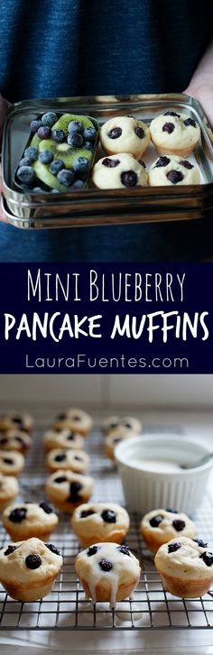 Whats better than pancakes? Bite sized mini pancakes that are full of blueberries in every bite! Mini Pancakes, Blueberry Pancakes, Baby Food Recipes, Snack Recipes, Pancake Bites, Bite Size Appetizers, Healthy School Lunches, Easy Food To Make, Blueberries