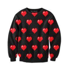 Pixel Hearts Sweatshirt ($59)