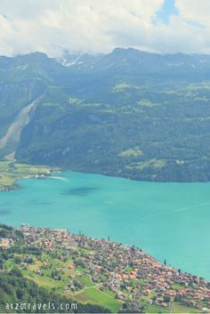 Beautiful Lake Brienz and beautiful Brienzer Rothorn mountain. Read all about a perfect day in Interlaken/Switzerland and see many more pictures.