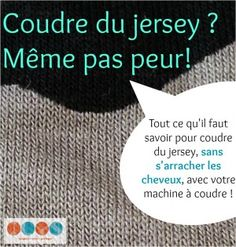 Coudre du jersey……re pinned by Maurie Daboux ❤╰☆╮ Sewing Hacks, Sewing Tutorials, Sewing Projects, Sewing Clothes, Diy Clothes, Couture Fashion, Diy Fashion, Couture Sewing Techniques, Coin Couture
