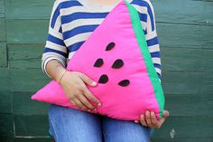 DIY Watermelon Cushion Tutorial