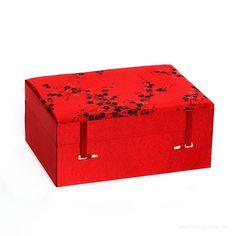Schmuckdose Brokat mit Spiegel Schmuckkasten Schmuckschatulle Ring jewelry box