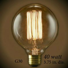 Nostalgic Globe G30 Vintage Light Bulb 40 Watt