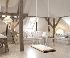 Holzschaukel für Innen