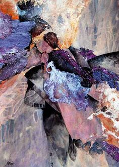 Sharon Blair Art and Design: A Bird In The Hand    www.sharonblair.com.au     - Art For Inspired Interiors           -  Mixed Media Artwork: Organic Abstract