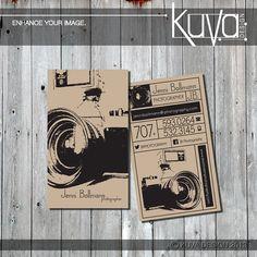 Custom Photography Business Card Vintage Style