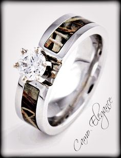 Realtree Camo Baby Bottles Engagement Band