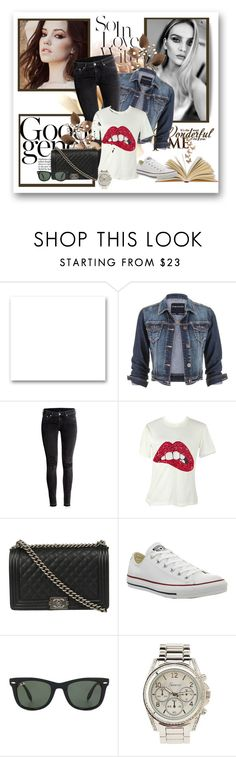 """White T-Shirt"" by aceboss ❤ liked on Polyvore featuring St. John, maurices, H&M, Chanel, Converse, Ray-Ban and Charlotte Russe"