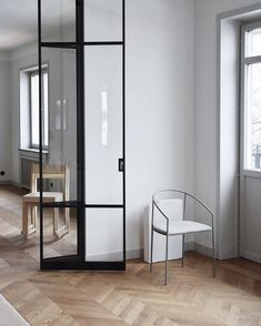'Spatial Sensibilities' by Frama & Andreas Martin-Löf - highlights from Stockholm Design Week 2019 Minimalist Kitchen, Minimalist Living, Steel Doors And Windows, Wooden Panelling, New Kitchen Designs, Interiors Magazine, Dark Interiors, Internal Doors, Glass Design