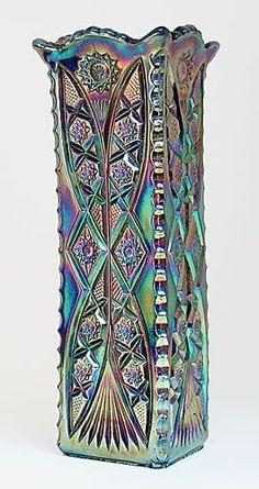 Carnival Glass. Square Diamond, Brockwitz