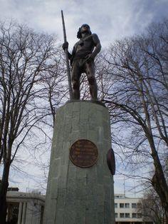 Monumento a Toqui Lautaro en Plaza Independencia - Concepción, Bío Bío Region, Chile