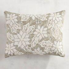Beaded μαξιλάρι Poinsettia