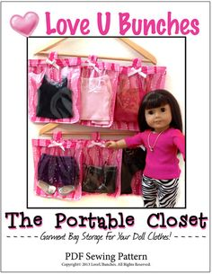 Got Clothes? Need Storage? Make a Portable Closet wiht this PDF sewing pattern! Download, Print, Sew - Pixie Faire