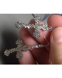 Crosses, ironically, have been used in pieces of jewelry. I only hope that the wearer would learn the true significance of the symbol that is being worn. Gothic Cross Earrings bead pattern