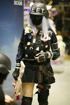 Anime Girl Neko, Otaku Anime, Home Guard, Girl Outfits, Cute Outfits, Mask Girl, Cosplay Anime, Anime Furry, Dark Wallpaper