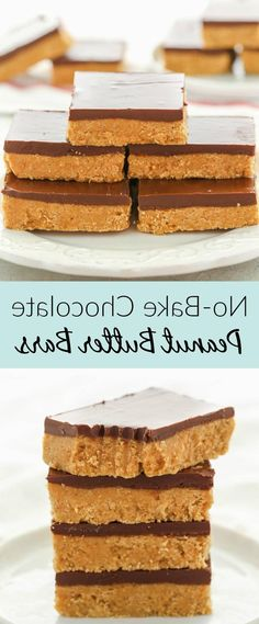 These super simple No-Bake Chocolate Peanut Butter Bars only require 5 ingredients! Also they only take about 10 minutes to make! These two things make them the perfect easy dessert for chocolate and peanut butter lovers! Simple easy and fast dessert how can you go wrong? #peanutbutter #chocolate #dessert #recipe #homemade ...and add half the sugar to egg yolks Beat until thick and creamy Gradually beat into melted chocolate Remove bowl from saucepan Whip egg whites until s...tes until stiff… Peanut Butter Snacks, Peanut Butter Chocolate Bars, Peanut Butter No Bake, Homemade Peanut Butter, Chocolate Chocolate, Peanut Butter Desert Recipes, Easy Peanut Butter Balls, Peanut Butter Chicken, Peanut Butter Cookie Bars