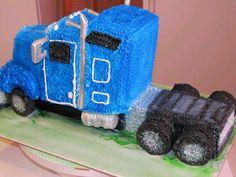 Semi Truck cake.....must have for Jaydon