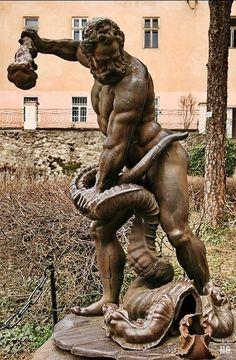 Hercules and the Lernaean Hydra. 1842. cast iron. Ukraine