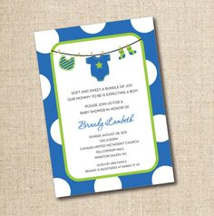 Baby Shower Invitations...Custom Printable by LilyGirlPaper