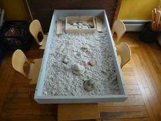 Shallow sensory table http://www.facebook.com/GardenGateCDC