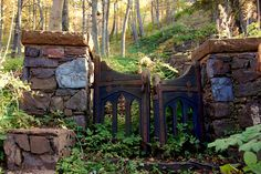 Cliffs cottage gate by TenKiln-location, via Flickr   One of the gates to Cliffs Cottage in Ishpeming, Michigan, where Samuel Mather and other Cleveland Cliffs Iron Company presidents stayed on their visits to the iron range.