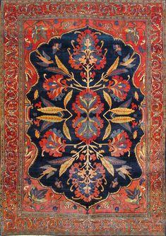 "Persian Fereghan rug, 7'4""X9'10"", 1890, Keivan Woven Arts Gallery"