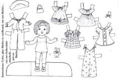Fantastic Find: 10 Black-and-White Printable Paper Dolls