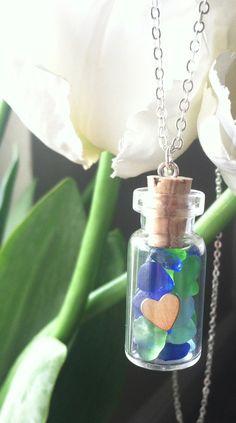 I Heart Sea glass Necklace