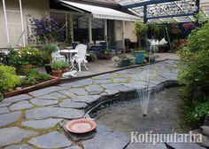 Veden solina on ihana lisä puutarhan aistimaailmaan. Patio, Garden, Outdoor Decor, Home Decor, Garten, Decoration Home, Room Decor, Lawn And Garden, Gardens