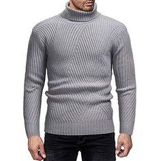 3f0497767533 Pull homme chaud à manches longues Chandail tricoté pour hommes automne  hiver col roulé à manches