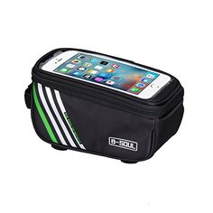 "Waterproof Cycling Pack Bicycle Top Tube Frame Bag with 5.7"" Touch Screen for iPhone6/6S, iPhone7/7 Plus Samsung Cell Phones http://coolbike.us/product/waterproof-cycling-pack-bicycle-top-tube-frame-bag-with-5-7-touch-screen-for-iphone66s-iphone77-plus-samsung-cell-phones/"