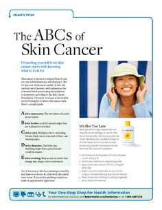 The ABCs of Skin Cancer | Download this guide to know what to look for: http://bit.ly/SkinCancerTips