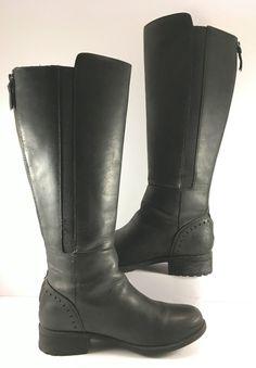 UGG Australia Black Leather Vinson Knee High Boots Womens Size US 9M   eBay