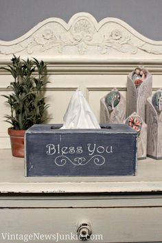 "Ah-Choo! ""Bless You"" DIY Kleenex Box {Easy Tutorial}"