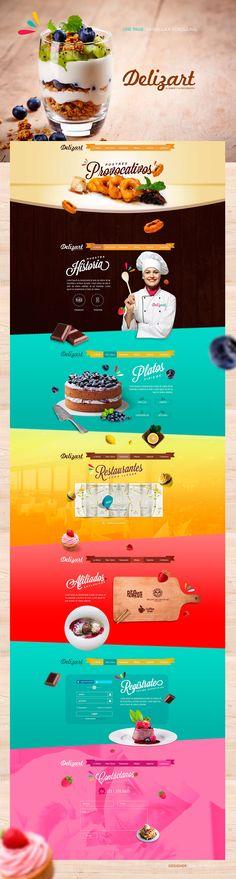 Food infographic Parallax Web Design - Delizart on Behance Infographic Description Parallax Web Design - Delizart on Behance - Infographic Source Food Web Design, Web Design Tips, Ad Design, Layout Design, Webpage Layout, Web Layout, Restaurant Menu Card, Mise En Page Web, Crea Design