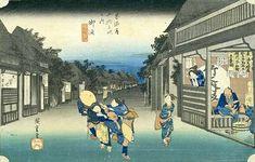 『東海道五十三次』「御油 旅人留女」(歌川広重 画)