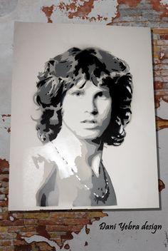 Jim Morrison. Stencil 4 layers. Dani Yebra.