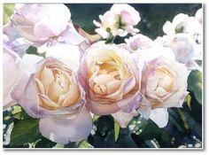 Bunch of Roses - George Artaud - watercolor