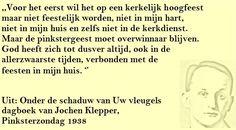 Quote. Pinksteren. Citaat uit dagboek Jochen Klepper