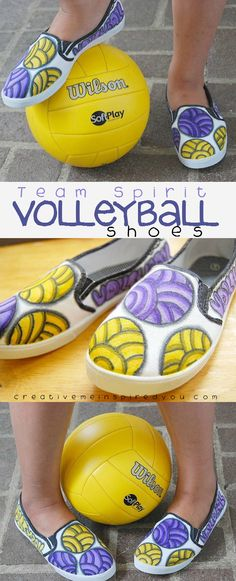 http://creativemeinspiredyou.com/team-shoes-go-team/  Team Spirit shoes, these will be great to make for High School sports!