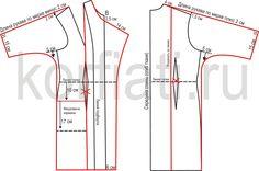 Бесплатная выкройка пальто - моделирование и построение
