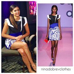 """""""Andrew Gn Spring 2015 Sleeveless Dress With Shoulder Details #nina #dobrev ninadobrev"""