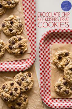 chocolate-chip-rice-krispies-treat-cookies via @spoonforkbacon