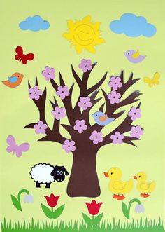 Season art activities for preschool Leaf Crafts, Tree Crafts, Flower Crafts, Diy And Crafts, Crafts For Kids, Arts And Crafts, Easter Craft Activities, Art Activities, Preschool Crafts